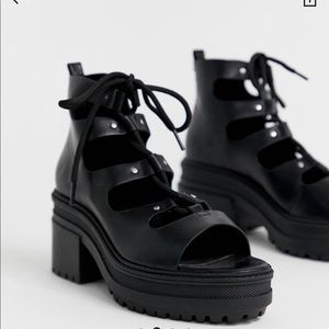 ASOS Lace Up Mid Heels